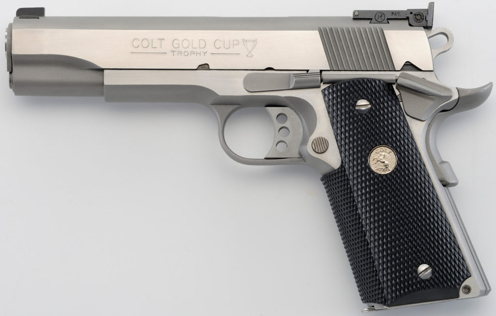 "<!DOCTYPE html> <html> <body> <p style=""font-family:arial;""> <p align=""left""> Action: Semi-automatic <br /> Type: 1911 <br /> Caliber: 45 ACP <br /> Size: Full <br /> Frame/Material: Steel <br /> Finish/Color: Brushed Stainless <br /> Capacity: 8Rd <br /> Accessories: 2 Mags <br /> <h1 style=""color:green"">​$1,249.95</h1> </p></body></html>"