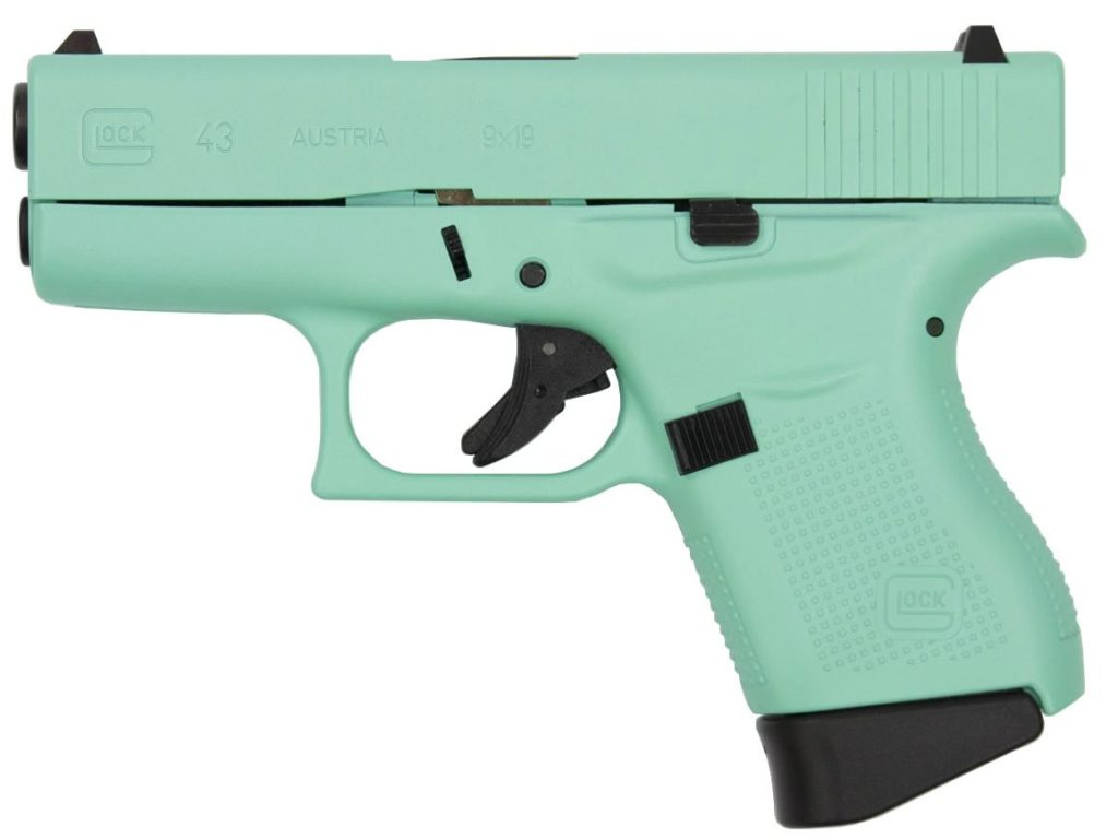 "<!DOCTYPE html> <html> <body> <p style=""font-family:arial;""> <p align=""left""> Action: Semi-automatic <br /> Caliber: 9mm <br /> Finish/Color:  Baby Blue Finish <br /> Rounds: Six Rounds <br/> 3.39 Inch Barrel <br /> SS + AA Trigger </br/> <h1 style=""color:green"">$599.00</h1> </p></body></html>"