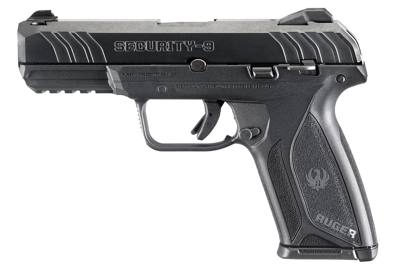 """<BODY><P STYLE=""""FONT-FAMILY:ARIAL;""""><P ALIGN=""""LEFT""""> Caliber-Gauge9MM LUGER</BR> Finish: Blue</BR> Barrel Length:4</BR> Capacity:10</BR> Features:Drift Adjustable 3-Dot Sights</BR> Includes: two alloy steel magazines</BR> Precision machined</BR>  Hard coated aluminum chassis</BR> Full-length guide rails <H1 STYLE=""""COLOR:GREEN"""">$379.95</H1></P></BODY></HTML>"""