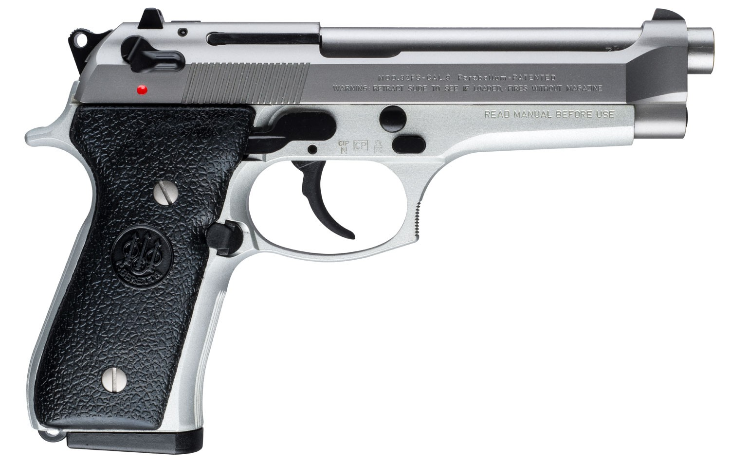 "<BODY><P STYLE=""FONT-FAMILY:ARIAL;""><P ALIGN=""LEFT""> Manufacturer: Beretta</BR> Manufacturer Part #: JS92F520</BR> Model: 92FS</BR> Action: Semi-automatic</BR> Caliber: 9MM</BR> Barrel Length: 4.9""</BR> Frame/Material: Alloy</BR> Finish/Color: Stainless</BR> Capacity: 10Rd</BR> <H1 STYLE=""COLOR:GREEN"">$775</H1></P></BODY></HTML>"