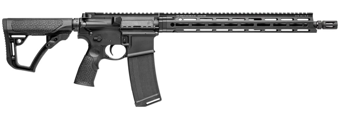 "Daniel Defense, DDM4V7, Semi-automatic Rifle, </br>223Rem/556NATO, 16"" Cold Hammer Forged Barrel, </br>1:7 Twist, Black Finish, 32Rd, Daniel Defense Furniture, </br>Daniel Defense Flash Suppressor, </br>Daniel Defense MFR XS 15"" Handguard, </br>1-32Rd Daniel Defense Magazine"