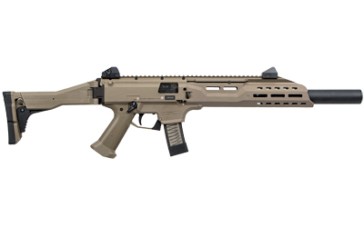 "CZ-USA Scorpion EVO 3 S1 Carbine,</br>9MM 16.2"" Threaded Barrel, 1/2x28 Thread Pitch,</br> Flat Dark Earth Finish, </br>Folding Stock, Adjustable Sights, Removable Faux Suppressor,</br> 20 Rnd mag"