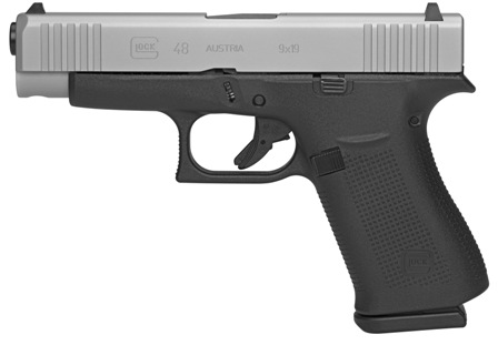 "<BODY><P STYLE=""FONT-FAMILY:ARIAL;""><P ALIGN=""LEFT""> Glock<br> Model: 48<br> Action: Semi-automatic<br> Caliber: 9MM<br> Barrel Length: 4.17"" Barrel<br> Frame/Material: Polymer<br> Finish/Color: Silver<br> Grips/Stock: Polymer<br> Capacity: 10Rd<br> Accessories: 2 Mags<br> Safety: Trigger<br> <H1 STYLE=""COLOR:GREEN"">$499.95 & up</H1></P></BODY></HTML>"