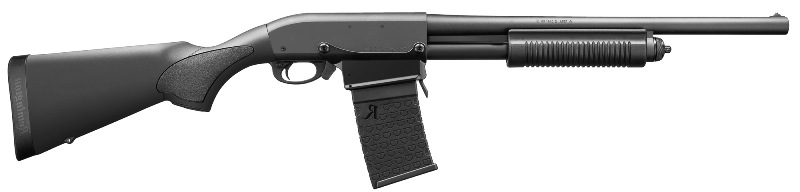 "Remington</br>870 DM, Detachable Magazine, Pump Action, 12Ga, 3"", 18.5"" Barrel </br> Black Synthetic Stock </br>6Rd Magazine"