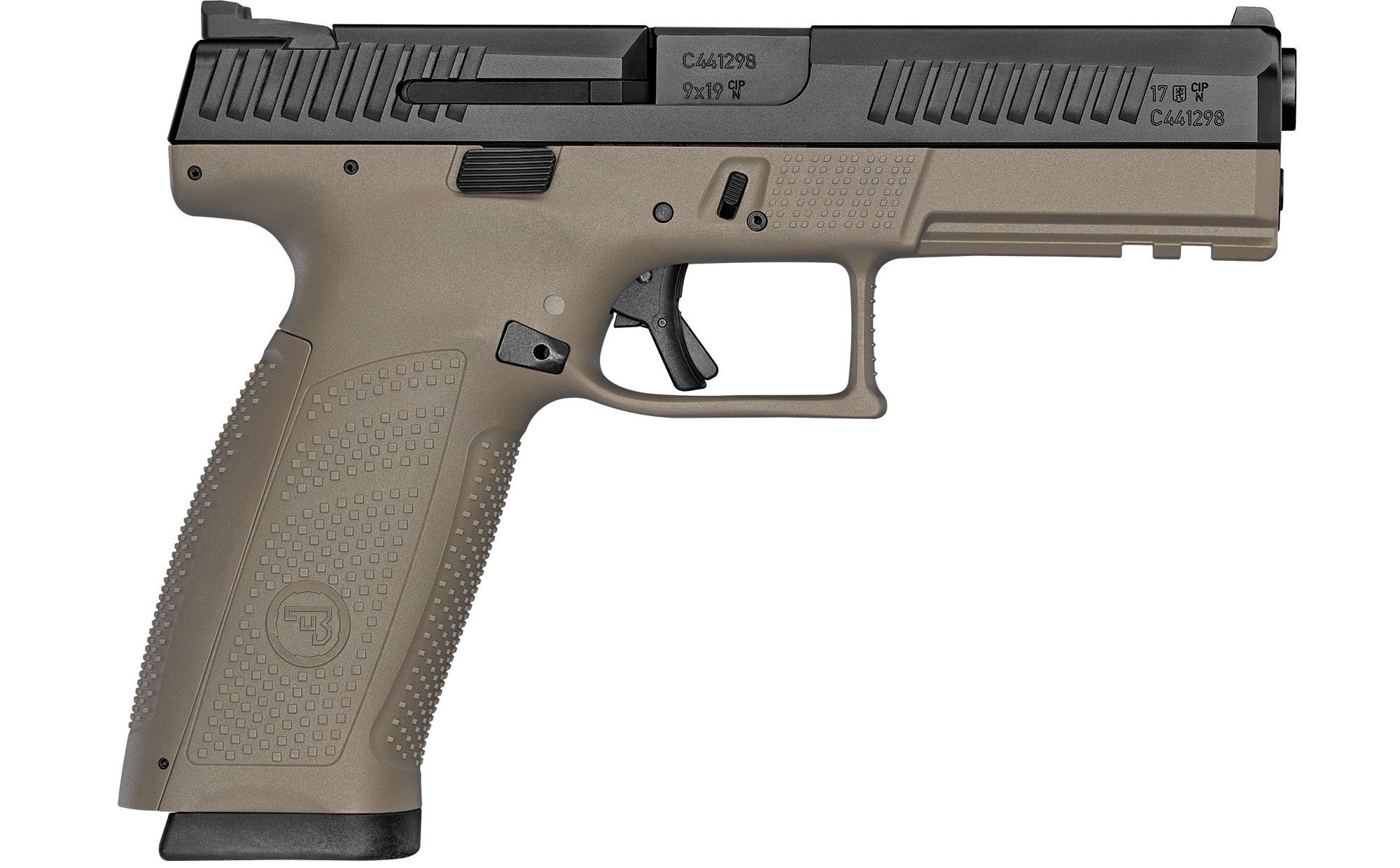 "<BODY><P STYLE=""FONT-FAMILY:ARIAL;""><P ALIGN=""LEFT""> CZ<br> Model:P10F <br> Action: Semi-automatic<br> Caliber: 9MM<br> Barrel Length: 4.5""<br> Frame/Material: Polymer<br> Finish/Color: FDE<br> Sights: Night Sights<br> Capacity: 10Rd<br> <br> Safety: Trigger<br> <H1 STYLE=""COLOR:GREEN"">$579.95</H1></P></BODY></HTML>"