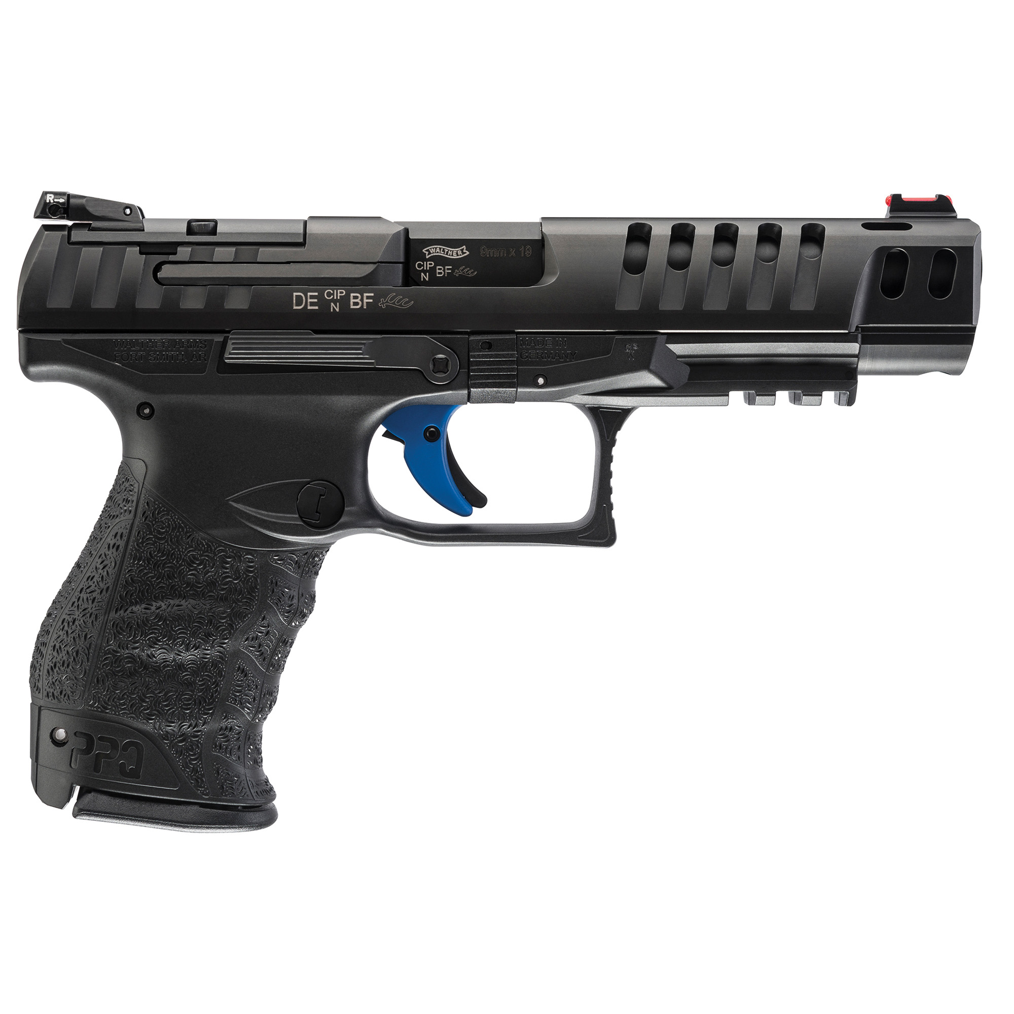 "<BODY><P STYLE=""FONT-FAMILY:ARIAL;""><P ALIGN=""LEFT""> Walther<br> Model:Q5<br> Action: S/A<br> Caliber: .9mml<br> Barrel Length: 5""<br> Finish/Color: Matte<br> Sights: Fixed<br> Capacity: 5Rd<br>Adjustable Rear Sight, Fiber Optic Front <br>Adjustable Rear Sight, Fiber Optic Front, 10Rd, 3 Magazines <H1 STYLE=""COLOR:GREEN"">$799.95</H1></P></BODY></HTML>"